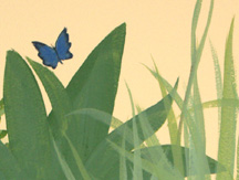 Nursery Mural (Blue Butterfly Detail)