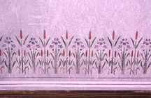 Purple Garden Room (Stencil Detail)